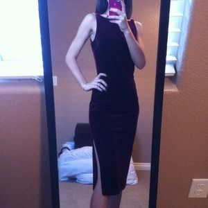 NWOT! Bebe stretch deep maroon velvet dress!!