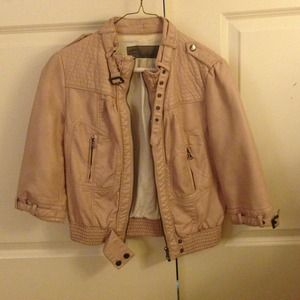 Soft mauve pink ZARA leather jacket