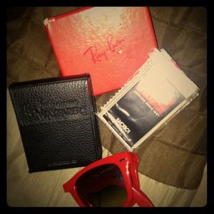Ray ban red sunglasses NWOT