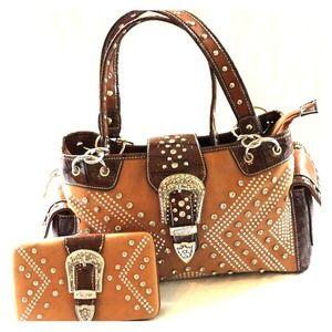 Western style rhinestone handbag.