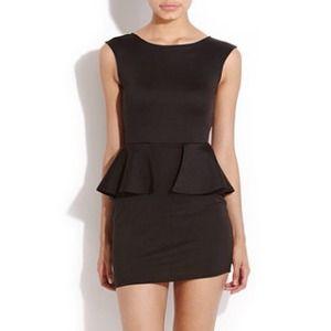 Black Star Peplum Dress