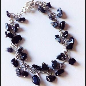 Jewelry - Snowflake Obsidian Gemstone Ankle Bracelet