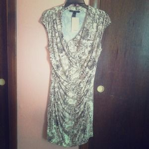 Snake skin pattern, form fitting spring dress