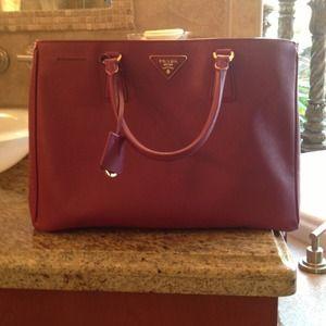 Prada purse  Fuschia medium with bag
