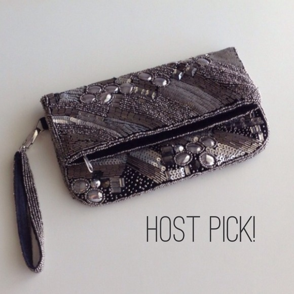 Forever 21 Clutches & Wallets - Sequin clutch with detachable wrist strap