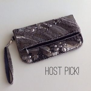 Forever 21 Bags - Sequin clutch with detachable wrist strap