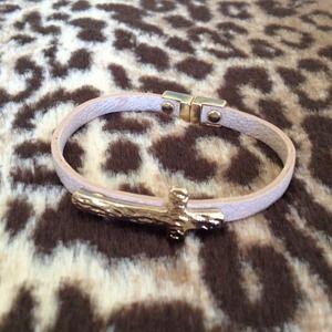 Cyber Monday sale🎉🎈Cream Leather Cross Bracelet