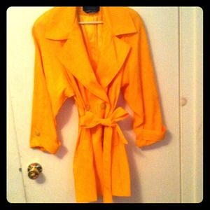 Jackets & Blazers - Bright Yellow Rain Coat