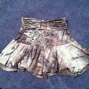 Dresses & Skirts - Metallic/ belted skirt
