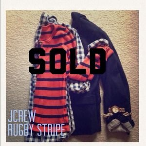 J. Crew Tops - Sold Jcrew thermal rugby stripe