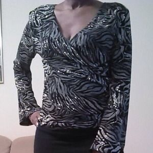 Metaphor Women's Zebra print blouse
