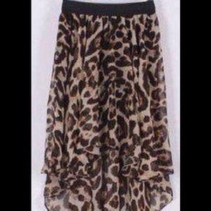 High low cheetah skirt