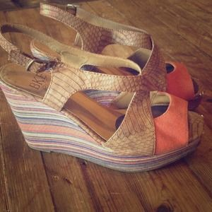 Super cute funky wedges!