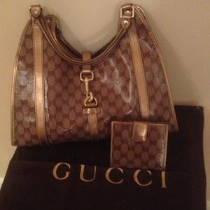 Authentic Gucci handbag and wallet
