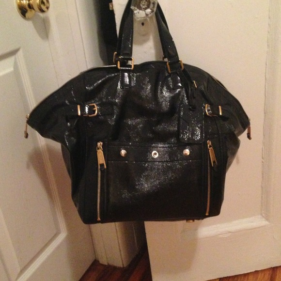 39% off Yves Saint Laurent Handbags - YSL Downtown Black Patent ...