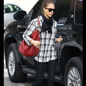 39% off Yves Saint Laurent Handbags - YSL Downtown Black Patent ...