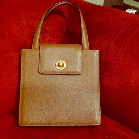 f165f97b1c9c Bvlgari Bags   Amber Grain Leather Caramel   Poshmark