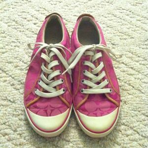 Coach Shoes - Pink Coach tennis shoes