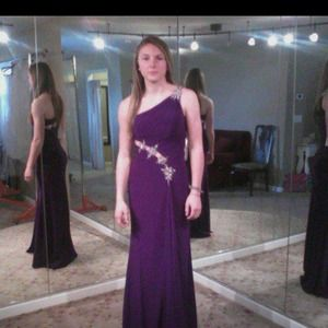 Plum prom gown purchased in 2011.