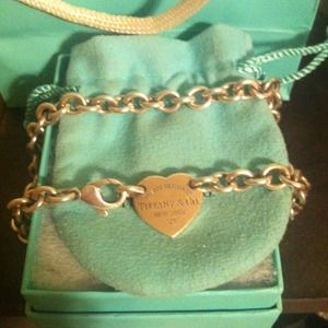 Tiffany and co heart tag necklace REDUCED !!
