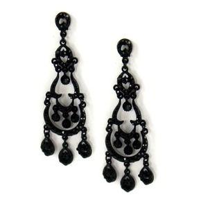 Jewelry black chandelier earrings rhinestone poshmark jewelry black chandelier earrings rhinestone aloadofball Gallery