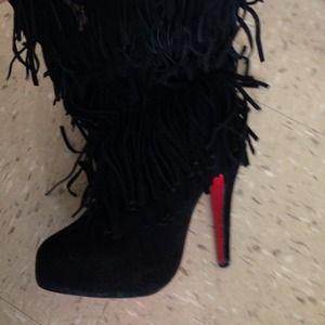 the latest 6ef4e 5a712 Christian louboutin Tina fringe boots
