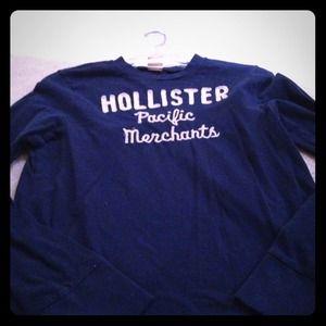 Hollister long sleeve navy top