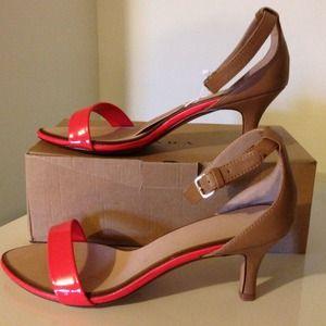 🌟Host Pick🌟 Zara Coral & Nude Ankle Strap Shoe