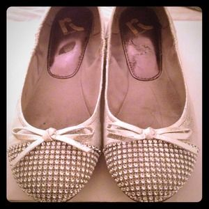 Report Shoes - Report silver ballet flats