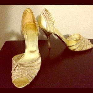 REDUCED! Valentino gold heels!