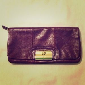 COACH Oversized Leather Clutch