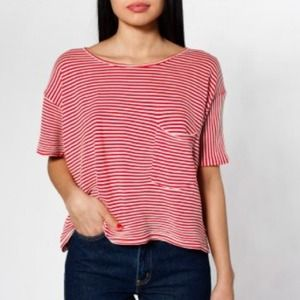 Tops - ❌TRADED❌ American Apparel Stripe Mid-Length Tee