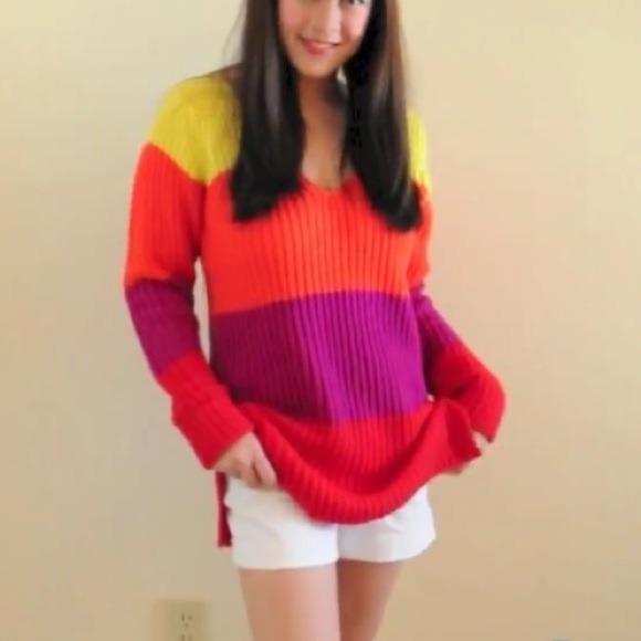Tops - Derek Heart Multi Colorblocked Sweater