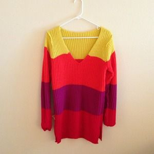 Tops - Derek Heart Multi Colorblocked Sweater