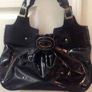 Anya Hindmarch Handbags - Anya Hindmarch  Black Patent Bag  red final