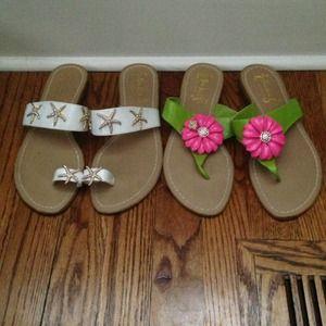 Miss Trish for Target Shoes - 2 pairs Miss Trish for Target flip flops.   Sz. 7