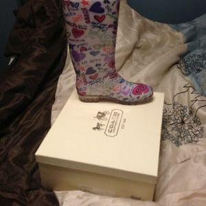 Coach Pixy Poppy Rain Boots