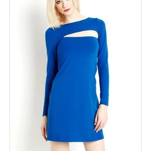 Susana Monaco cobalt cutout dress $172 NWT