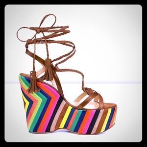 SALE! Jimmy Choo Multicolor Wedge. Perfect4Summer
