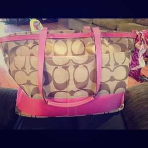 coach luggage outlet eags  pink coach diaper bag outlet