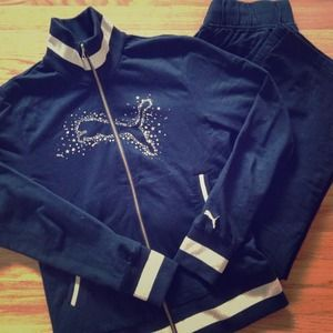 Puma Jackets & Blazers - Puma Gold Stud Tracksuit -Bought in Italy