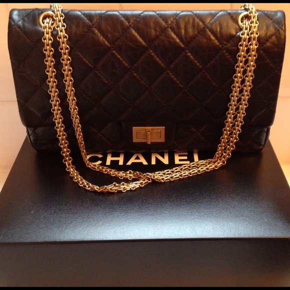 CHANEL Handbags - ***SOLD***Chanel black calfskin 2.55 reissue 227