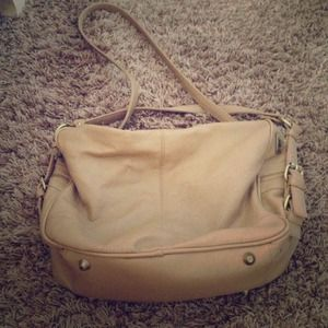 Adorable Tan Faux Leather Bag