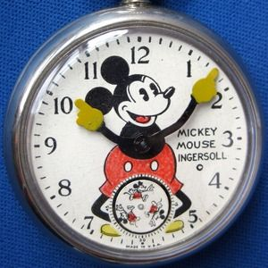 1929 Ingersoll Mickey Mouse Pocket Watch.