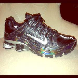 73af576d45e5 Nike Shoes - Black Iridescent Nike Shox