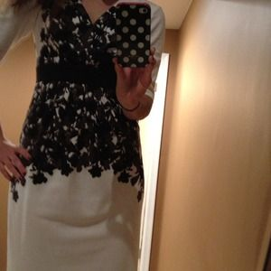 Maggy London Black & White Dress