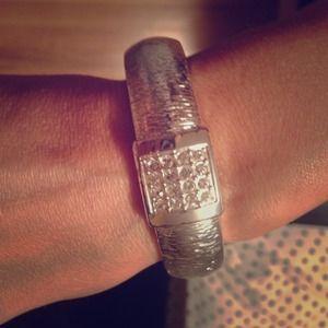 On SaleSilver bangle bracelet with rhinestones