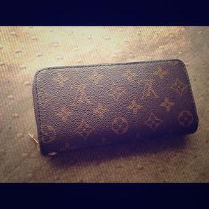 Lv inspired wallet