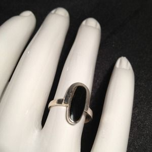 Jewelry - Genuine Onyx & .925 Sterling Silver Ring