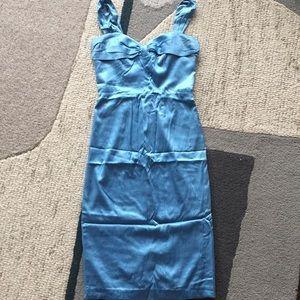 ✨REDUCED✨Betsey Johnson blue silk satin dress